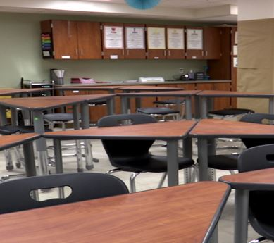 Photo of school classroom