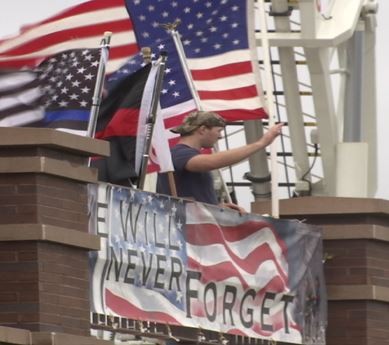 Flags fly for anniversary of 9/11 attacks